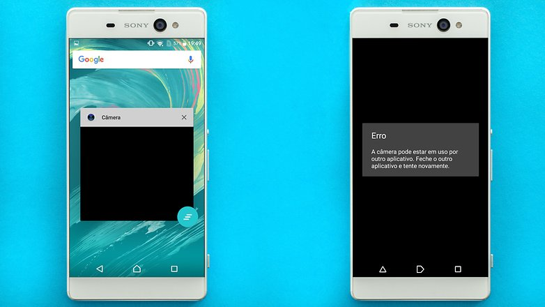 AndroidPIT Sony Xperia xa de ultra pantalla de error de la cámara 1