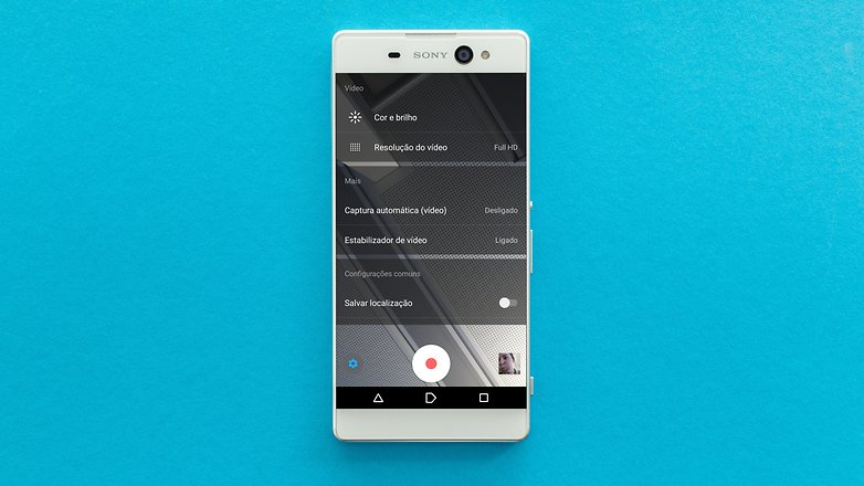 AndroidPIT Sony Xperia xa pantalla de ultra ajuste de la cámara 1