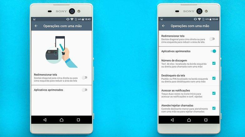 AndroidPIT Sony Xperia xa pantalla de ultra 1 una configuración de mano