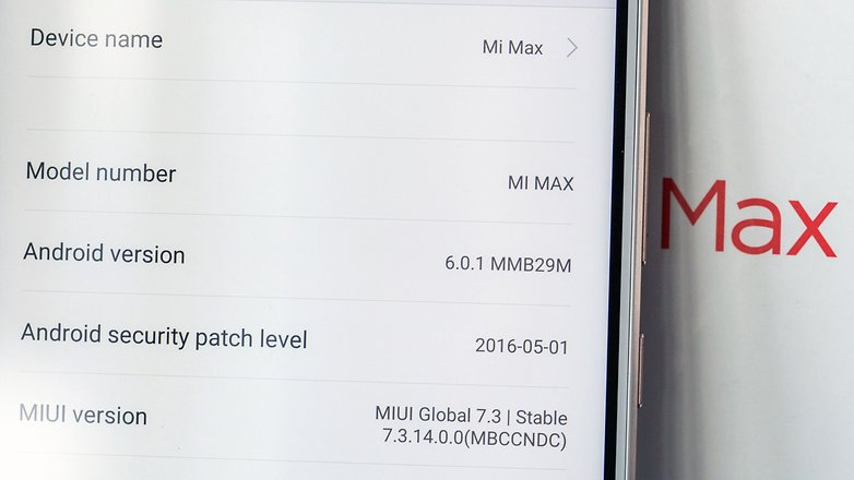 AndroidPIT xiaomi mi max android version