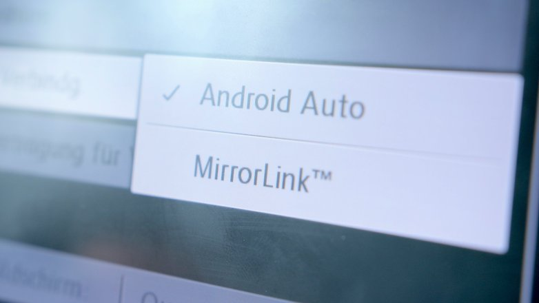 android auto mirror link settings