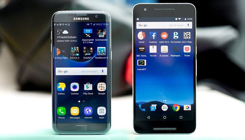Samsung Galaxy S7 Edge vs Nexus 6P: Las curvas convencen
