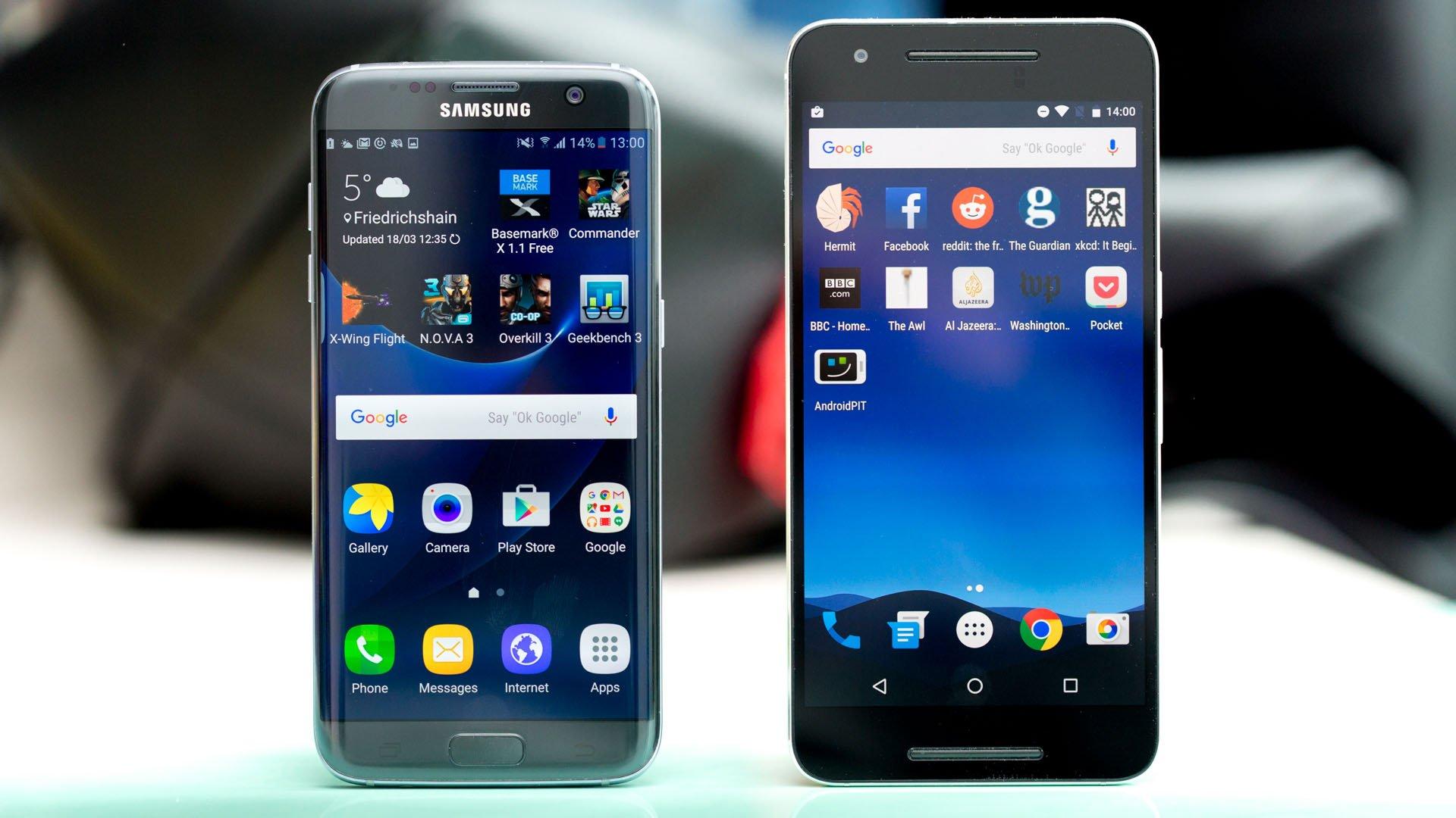 Samsung Galaxy S7 Edge vs Nexus 6P: Las curvas convencen ...