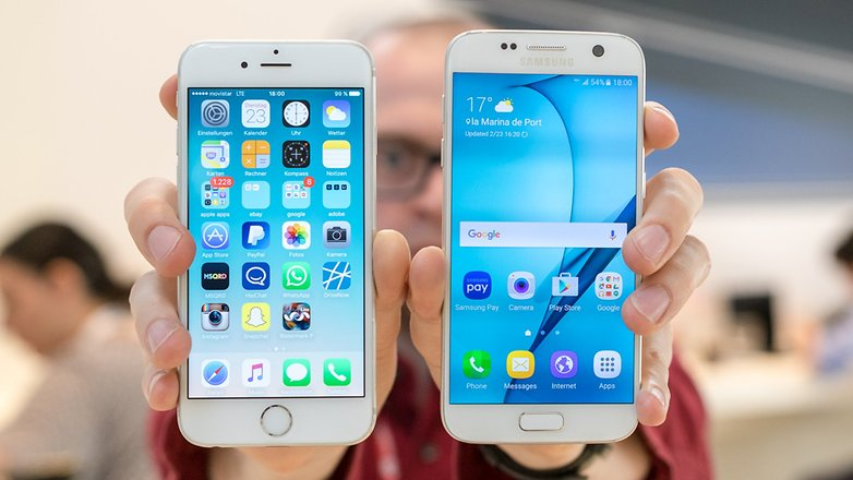 androidpit samsung galaxy s7 vs apple iphone 6 1