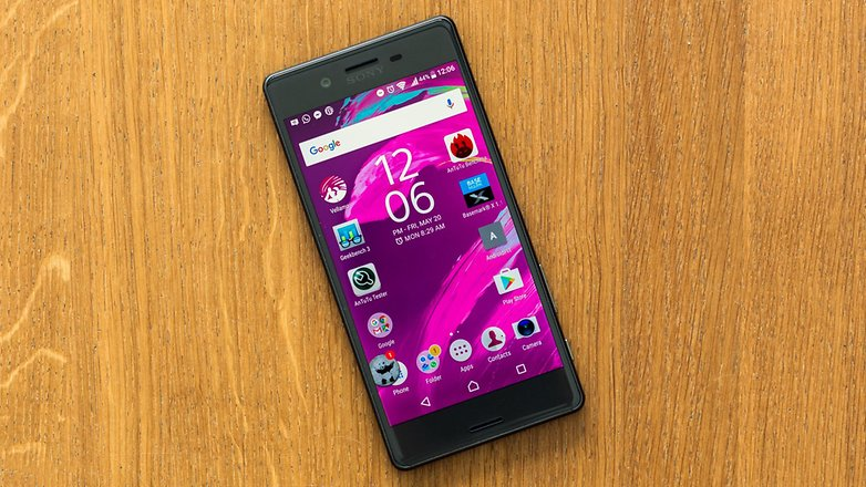 androidpit sony xperia x screen