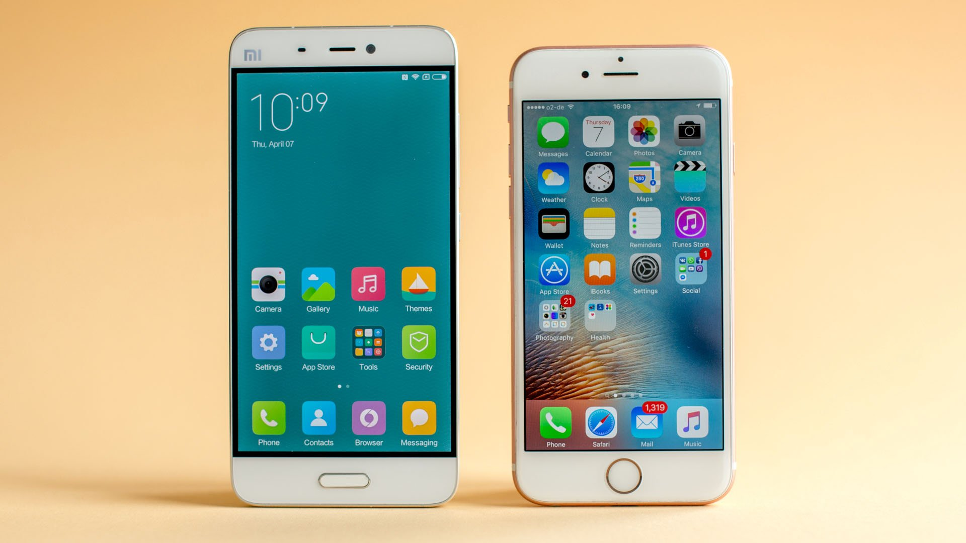 xiaomi mi5 vs iphone 6s