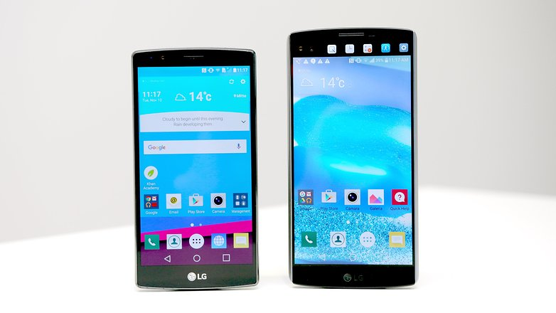 lg 10. lg g4 vs v10 screen 10