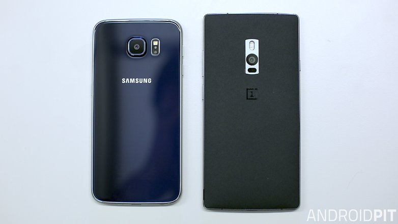 oneplus 2 vs galaxy s6 back