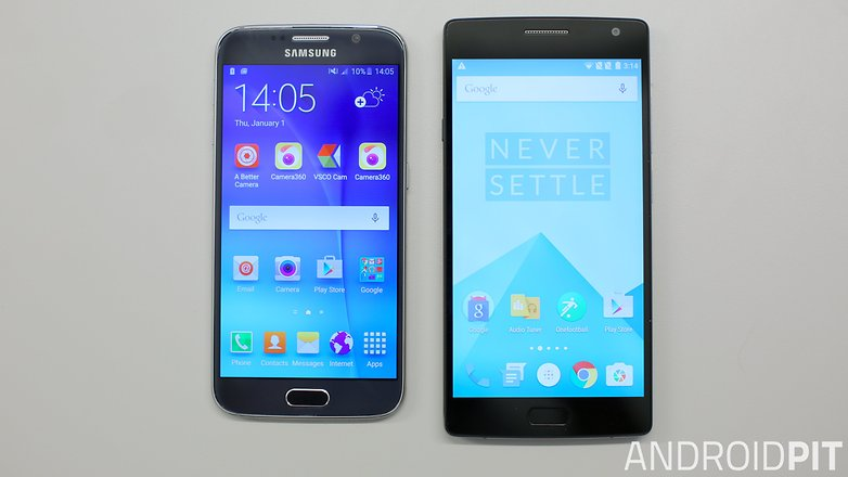 oneplus 2 vs galaxy s6 front