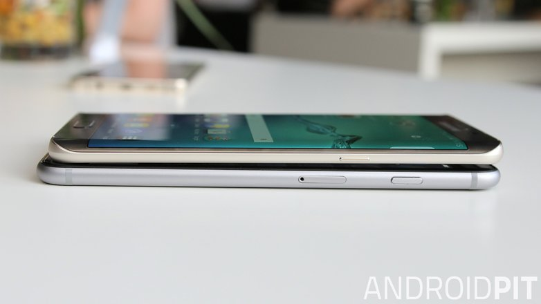 s6 edge plus vs iphone 6 plus side power button