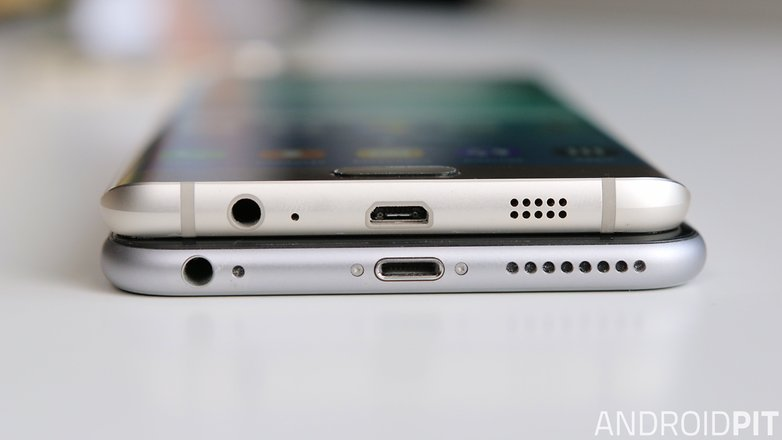 s6 edge vs iphone 6 plus plus USB speaekrs