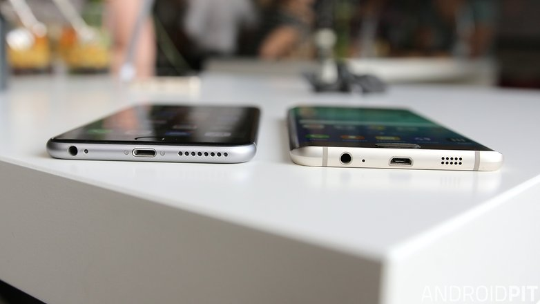 s6 edge vs iphone plus 6 plus usb