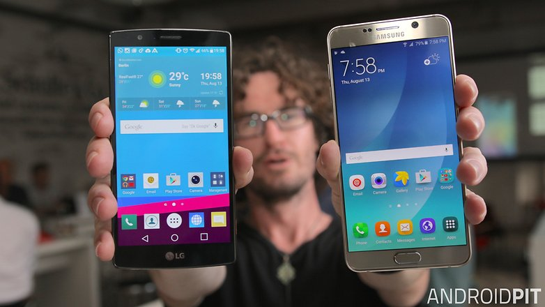 samsung galaxy note 5 lg g4 display