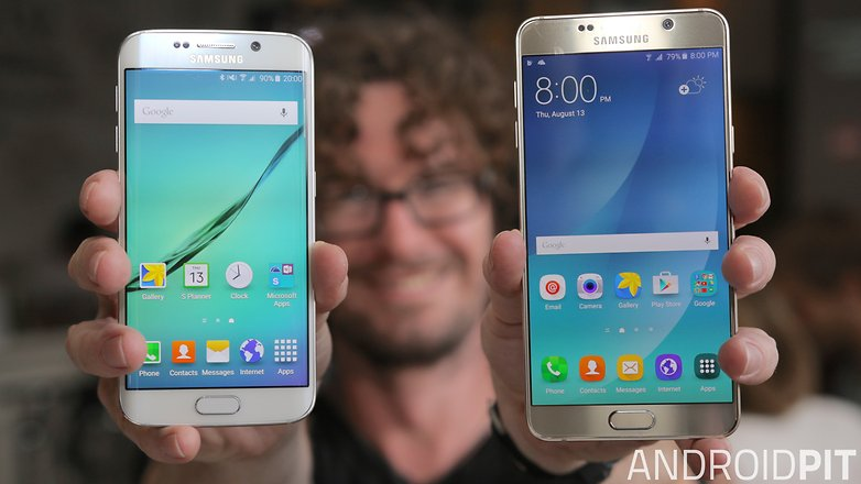 samsung galaxy note 5 vs galaxy s6 edge front