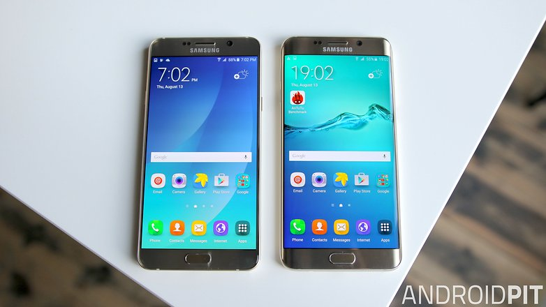 samsung galaxy note 5 vs galaxy s6 edge plus screen