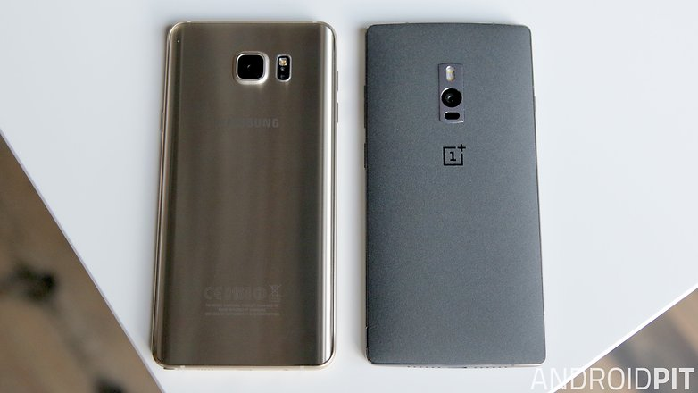 samsung galaxy note 5 vs oneplus 2 back