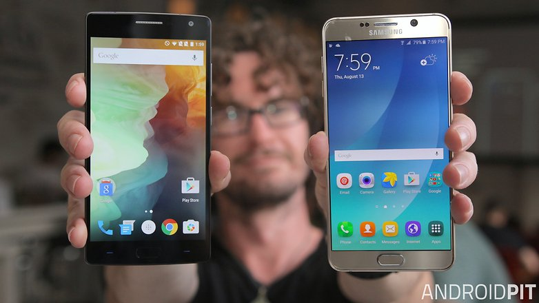 samsung galaxy note 5 vs oneplus 2 front