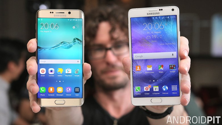 samsung galaxy s6 edge plus vs galaxy note 4 front display