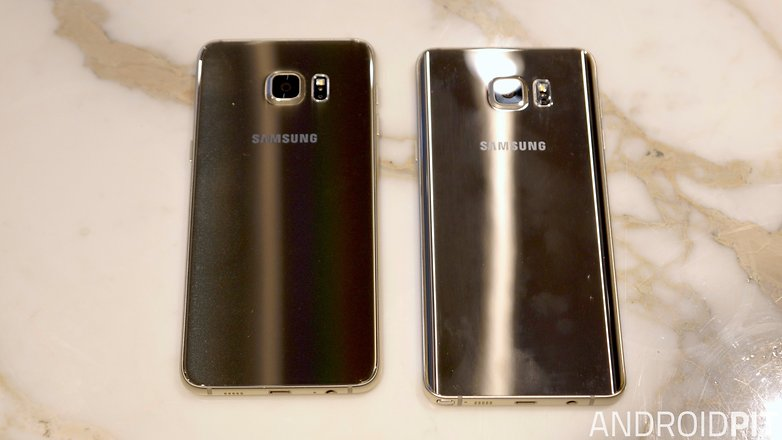 samsung galaxy s6 edge plus vs galaxy note 5 back