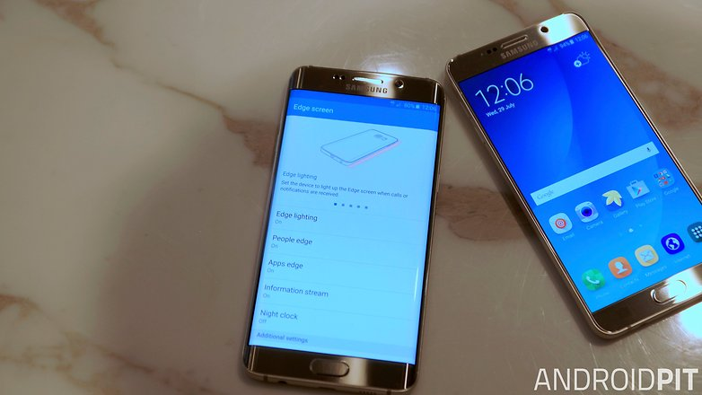 samsung galaxy s6 edge plus vs galaxy note 5 edge screen settings