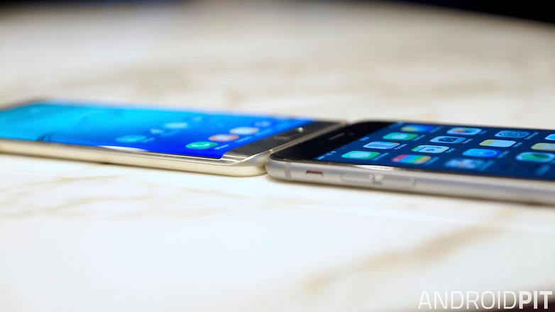 samsung galaxy s6 edge plus vs iphone 6 plus side