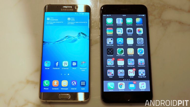 samsung galaxy s6 edge plus vs iphone 7 plus