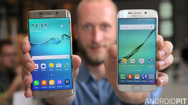 samsung galaxy s6 edge plus vs s6 edge front