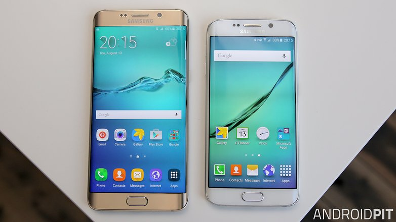 samsung galaxy s6 edge plus vs s6 edge screen front