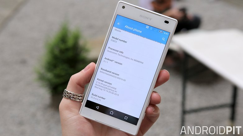 sony xperia z5 compact front display settings