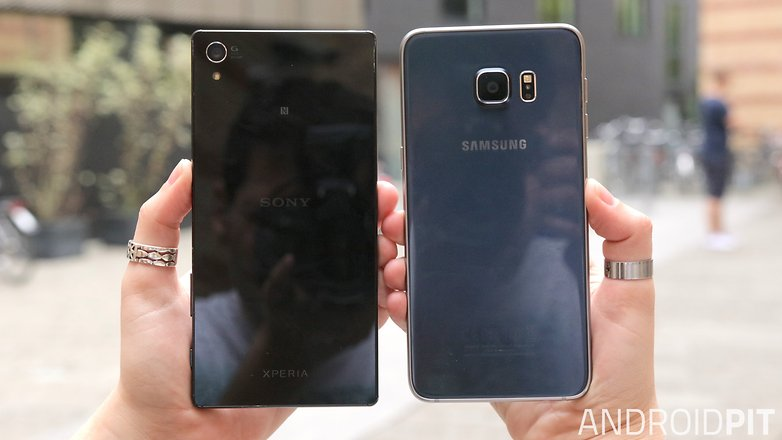 sony xperia z5 premium vs samsung galaxy s6 edge plus back
