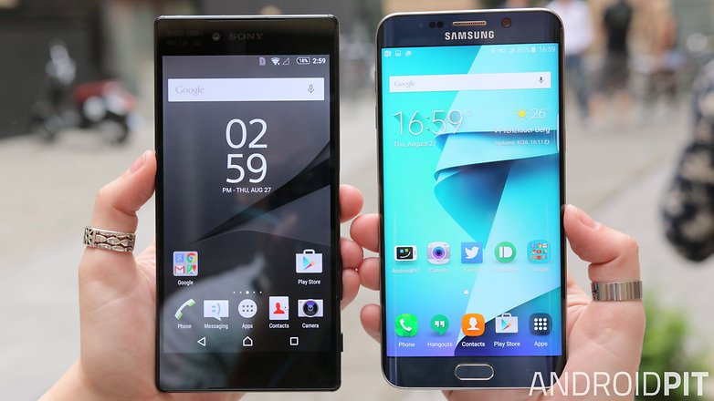 sony xperia z5 premium vs samsung galaxy s6 edge plus display