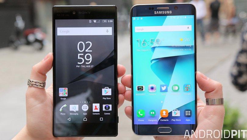 Comparación de Xperia Z5 Premium vs Galaxy S6 Edge+: La guerra de las pantallas
