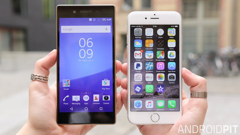 iphone 6s vs sony xperia z5 premium español