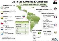 Mapa de las redes 4G en Latinoamérica