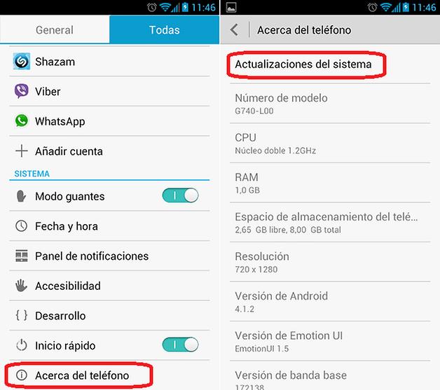 Actualizacion Android