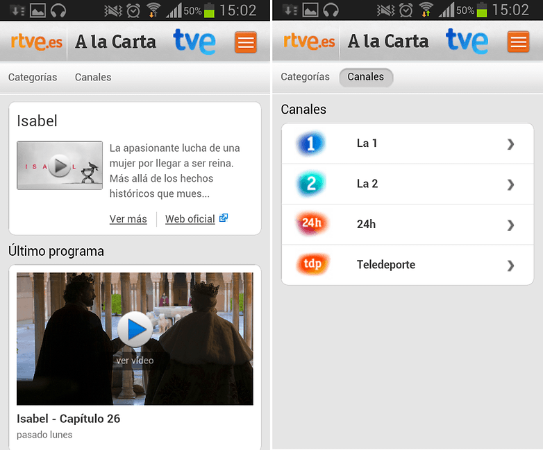 RTVE Series Canales