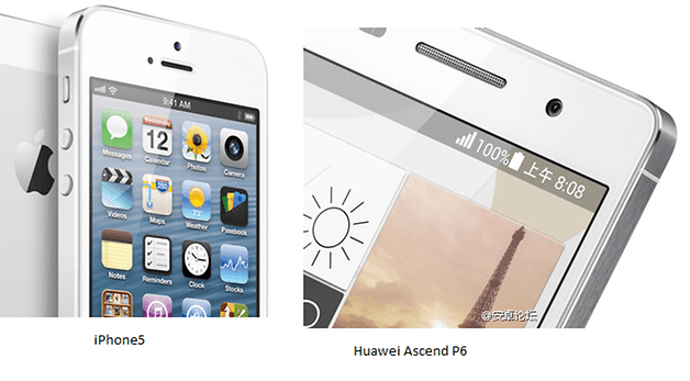 iPhone5 HuaweiAscendP6