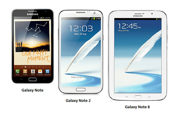 GalaxyNote Note2 Note8
