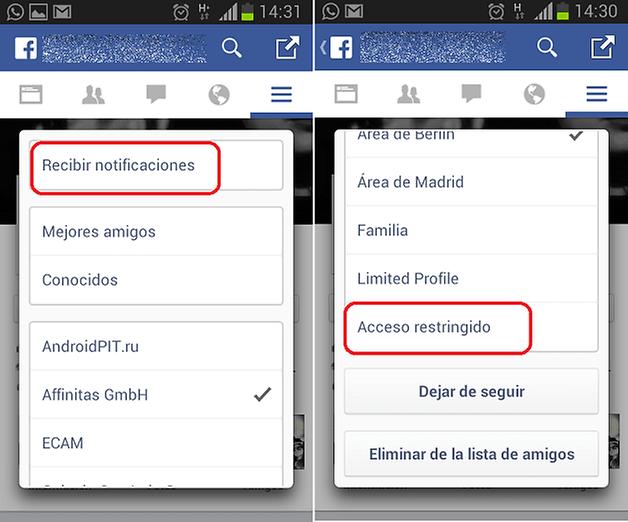 FacebookRestringir