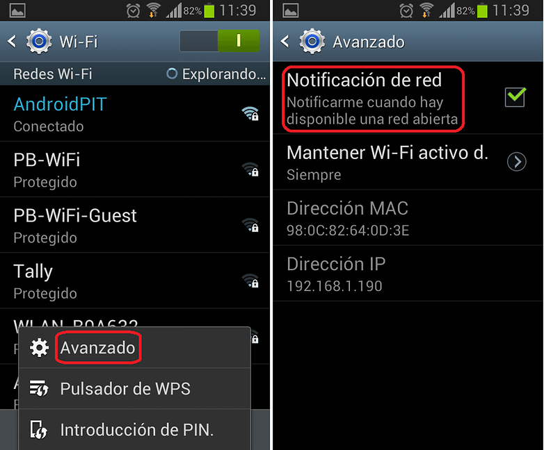 Notificaciones WIFI