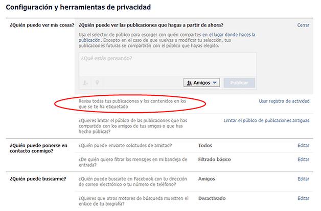 Facebook Privacidad Nuevo