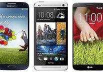 Galaxy S5 vs HTC One 2 vs LG G3 - Comparación de rumores