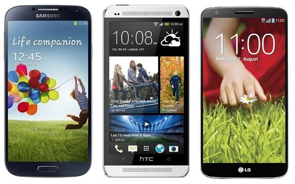 GalaxyS4 HTCOne LGG2