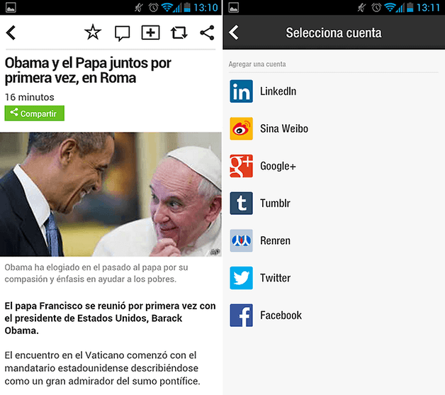 Flipboard Noticia
