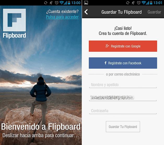 Flipboard Registro