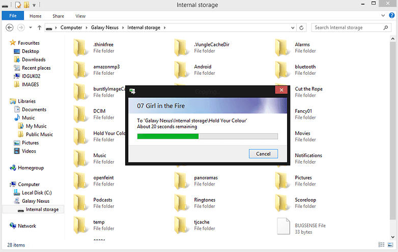File Transfer Windows Explorer