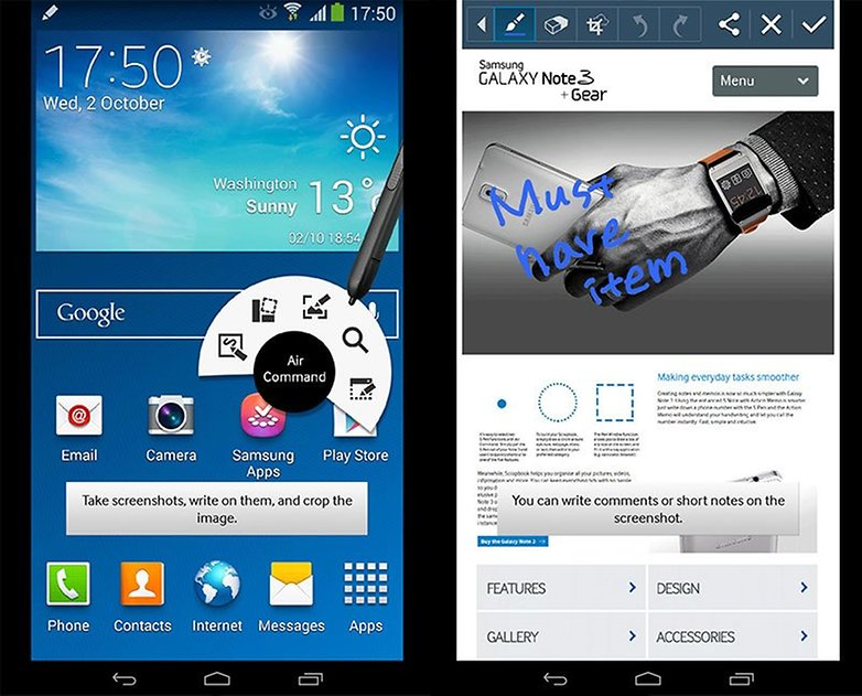 How to take a screenshot with the Samsung Galaxy Note 3: 3 easy methods