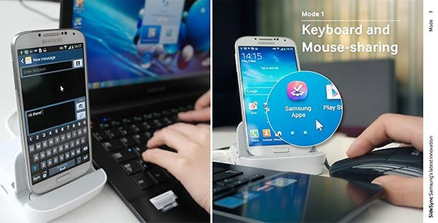 Samsung SideSync: seamless integration between smartphone and PC
