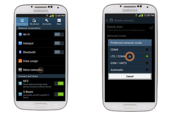 How to enable 4g on a samsung galaxy s4 androidpit s4 ccuart Gallery