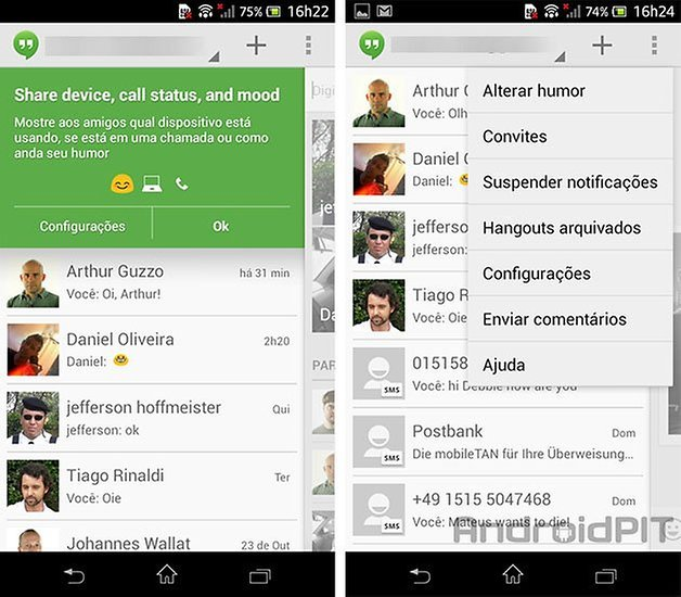Hangouts sms android 2